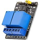 AZDelivery 2-Relay Module 5V met Optocoupler Low-Level-Trigger compatibel met Arduino Inclusief E-Book!