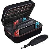 Étui pour Nintendo Switch - LYCEBELL Housse Sacoche de Transport à Coque Rigide Anti Choc pour Console Switch, Dock, Manette