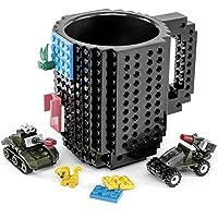VANUODA Build-on Brick Mug, Funny Cup, Father's Day Halloween Birthday Present for Men Women Dad Him Her Kid Boy Girl…