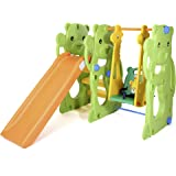 Baby Vivo Columpio Tobogán Parque para Infantil Niños Recto Diapositiva Interior y Aire Libre Juguetes Jardín - Jungle