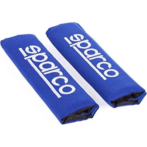 Sparco SPC1204BL Protezioni per Cintura di Sicurezza, Blu, Set di 2