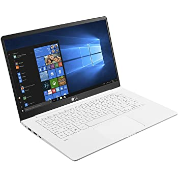 LG gram 14Z980-B - Portátil Full HD IPS 14 (Intel i5 8250U, 8 GB RAM, 256 GB SSD, Intel UHD Graphics 620, Windows 10 Home), Blanco - Teclado QWERTY ...