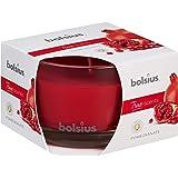 Bolsius Medium glas geurkaars Granaatappel, Wax, Rood
