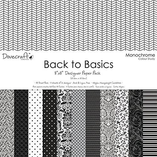 rayher-58069000-scrap-pack-sort-back-to-basics-203x203cm-150-g-m2-beutel-48blatt