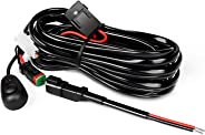 Nilight 10018W 14AWG DT Connector Wiring Harness Kit Bar 12V On Off Switch Power Relay Blade Fuse for Off Road LED Work Light