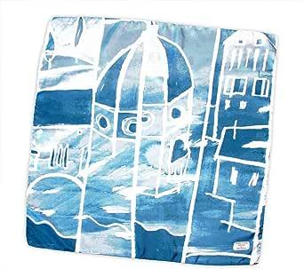 Cupola Brunelleschi foulard pura seta 70x70cm made in Italy. Disegno artistico della cupola del Duomo di Firenze ed altri suoi scorci