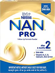 Nestle NAN PRO 2 Follow-up Formula Powder - After 6 months, Stage 2, 400g Bag-In-Box Pack