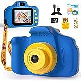 Peradix Fotocamera per Bambini,1080P HD Mini Telecamera per Bambini con Scheda SD 32 GB,Fotocamera per Bambini Giocattolo Sel