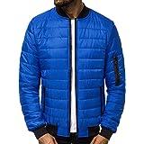 OZONEE Nature 4367 Winterjas voor heren, warme bomberjack, gewatteerde jas, winterjas, imitatiebont, donsjack, lichte outdoor