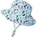 Sombrero de Sol para Bebé Niña Ajustable Gorro Verano de Pescador para Niños ala Ancha Sombrero Bob Protección Solar UPF 50 p