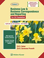 Business Law & Business Correspondence and Reporting for CA Foundation New Syllabus