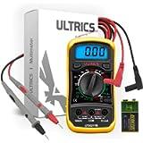 ULTRICS Digital Multimeter, Voltmeter Ammeter Ohmmeter Circuit Checker with Backlight LCD Test Leads, Portable Multi…