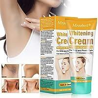 Underarm Whitening Cream, Crème Blanchissante, Skin Lightening Cream, Armpit Whitening Cream, Skin Bleaching Cream Effective for Armpit, Knees, Sensitive & Intimate Parts - 60ML …