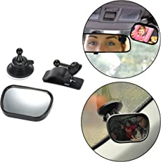 Safe-O-Kid- High Quality, Car Essential Baby Safety Mirror-Rear View, Small-360 Degree rotational View Helps You Keeping an Eye on Your Baby While Driving