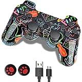Controller PS3, Joystick Playstation 3, Wireless PS3 Controller Doppio Shock Gamepad Compatibile per Playstation 3, Gamepad E