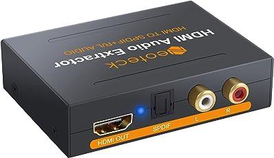 neoteck HDMI Audio Extractor HDMI zu Optische SPDIF Toslink Konverter + HDMI Video Adapter Splitter Verteiler mit UK Power adapter-dac HD Digital zu Stereo R/L Audio Extractor für Blu-ray DVD Player Xbox One Sky HD Box/PS3/PS4