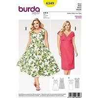Patron de couture Burda pour robes en forme de cloche, taille 20-30 6549
