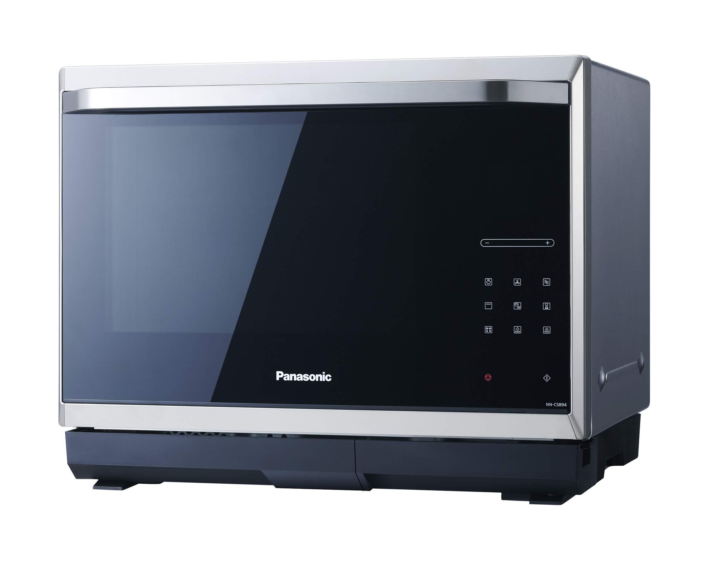 Panasonic NN-CS894 Kombi Mikrowelle, Dampfgarer-Mikrowelle, Grill, 32 Liter) edelstahl-schwarz