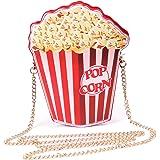 LUI SUI Borsa a tracolla per ragazze in pelle PU Cupcake Gelato Popcorn Carina scatola portafogli Borsa a tracolla Piccola bo