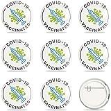 GLOBLELAND 9pz vaccinati per Virus vaccinati Contro Covid 19 Pin COVID-19 Pinback Button Badges Vaccine Button Pins