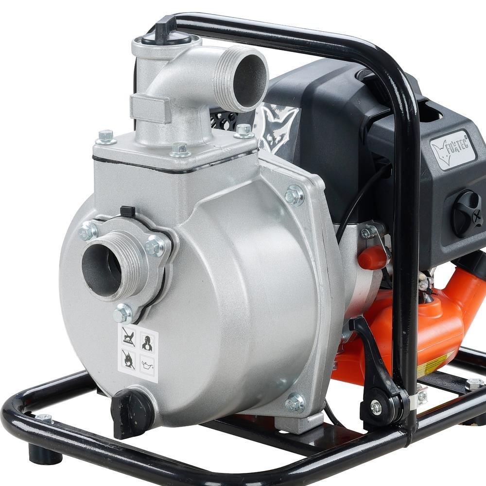 Fuxtec Benzin Wasserpumpe FX-WP143 mit 8.000 l Fördermenge und max. Förderhöhe 30 m Gartenpumpe Teichpumpe