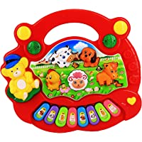 Azeena Animal Farm Piano Toy With Musical Sound And LED Lights | Battery Operated | Musical Instrument | Electric…