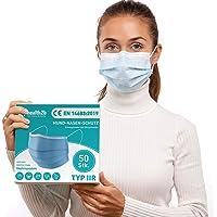 Health2b Mediziniche Mundschutz OP Masken [50 Stück] Typ IIR CE Zertifiziert, Mund und Nasenschutz Einweg Gesichtsmaske…