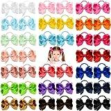 40pcs 3 pollici neonate capelli fiocchi cravatte per capelli fascia elastica titolare coda di cavallo fascia per capelli acce