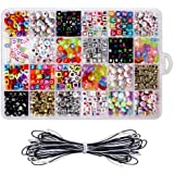 Perles De Lettre, 24 Styles Différents De Sacs De Perles, en Acrylique De Qualité Supérieure pour Les Amoureux De Cadeaux Ou