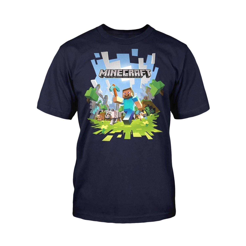 Boys Minecraft T-shirt | Mine Craft Tshirt | Adventure Logo with ...