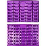 Collory stora ben (7cm) silikonbakform, benbakform för hundkakor och hundgodis, pralinform, non-stick och matsäker (BPA-fri)