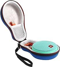 Shucase EVA Hartschalentasche für JBL Clip 2 Wasserdichter Tragbarer Wiederaufladbarer Lautsprecher. Passend für USB-Kabel und Ladegerät (Dunkelblau)