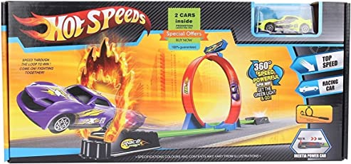 360 Hot Speed Powerful Spin Loop Way Racing Inertia Power Car With 3 Vehicles
