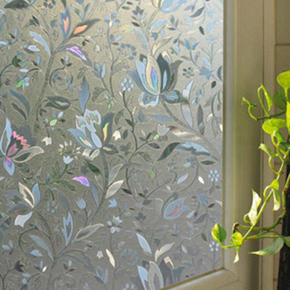 Bluelans 3D Statische Fensterfolie Dekorfolie Sichtschutzfolie