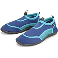 Girls Wet Shoes Women's Adult Size 6 Ladies Aqua Beach Surf Water Boots Swim Foot Protection - Blue & Turquoise