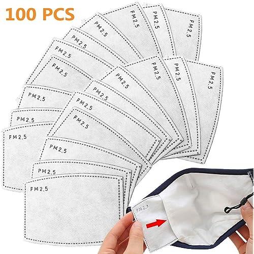 100PCS PM2.5 Foglio Attivo di Sostituzione del Carbonio, Utilizzato per Proteggere l'Inserimento Respiratorio, Adatto ad attività Esterne Adulte