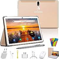 Tablet 10 Pollici 128GB Espandibili 64GB ROM 4GB RAM Tablets 4G LTE Android 9.0 Pie Certificato da Google GMS Tablet Pc con WIFI Offerte Bluetooth OTG GPS con 3 Slot (Dual SIM + 1 SD)