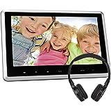 """10,1"""" Zoll DVD Player Auto mit HD Monitor Videogeräte für Kopfstützen HDMI mit Fernbedienung Kostenlos Kopfhörer KFZ USB SD FM IR für Kinder TFT LCD Bildschirm NAVISKAUTO 03S"""