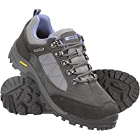 Mountain Warehouse Storm Womens Waterproof IsoGrip Shoes - Waterproof Ladies Rain Boots, Breathable, Suede Upper Hiking…