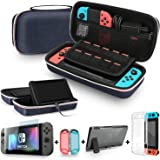 Bestico 3 in 1 Accessories Kits Compatible Nintendo Switch, Include Carrying Case with Stand for Nintendo Switch , 1pc Temper