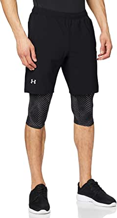Under Armour - Launch SW Long 2-in-1 Printed, Corto Uomo