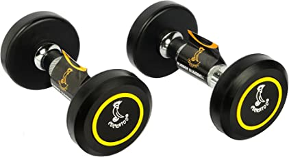 Cockatoo Rubber Coated Professional Round Dumbbells- Pack of 2