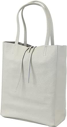 irisaa Damen Handtasche Leder, Handtasche Echtleder, Shopper XXL mit Innentasche aus Italien