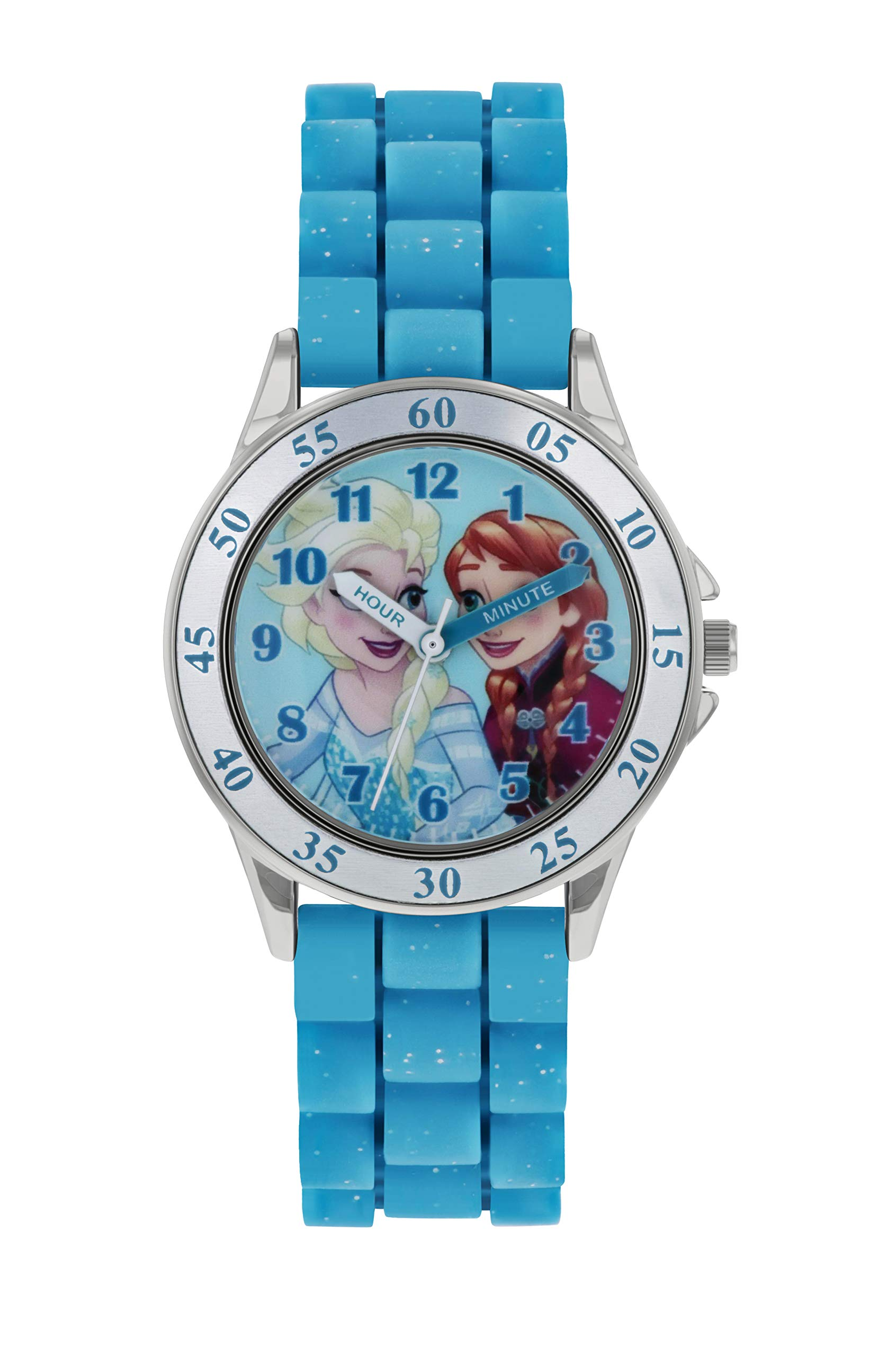Frozen Girls Analogue Classic Quartz Watch with Rubber Strap FZN9012
