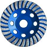 S&R Disque Diamant 125 Universal à meuler Béton, Marbre, Granit, Pierre, Brique, Maçonnerie, Plâtre, Chape. Disque Universal