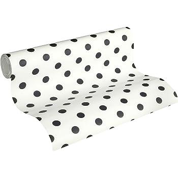 caselio shades 67799107 tapete mit schwarzen punkten ca 5 cm mit dem fonds in wei gebrochen. Black Bedroom Furniture Sets. Home Design Ideas