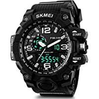RUSTET Analogue - Digital Men's Watch (Black Dial Black Colored Strap - 1155)
