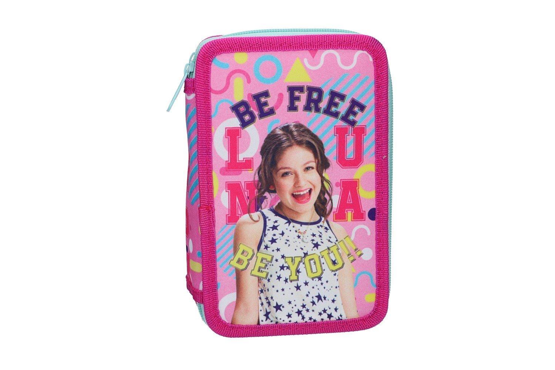 Soy Luna Estuche Lápiz caso de la escuela triple rosa 3 zip VZ585