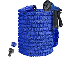 AWXYZ Garden Hose,25FT/50FT/75FT/100FT/125FT Expandable Garden Hose Pipe,Water Hose Pipe,Hosepipes for Garden with 8 Function