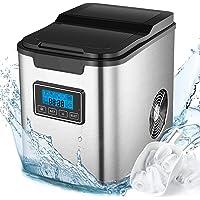 Machine à Glaçons 13kg en 24h, 3 tailles de Glaçons Automatique électrique Compact Portable 2.3L, 9 Glaçons Par 6 Min…